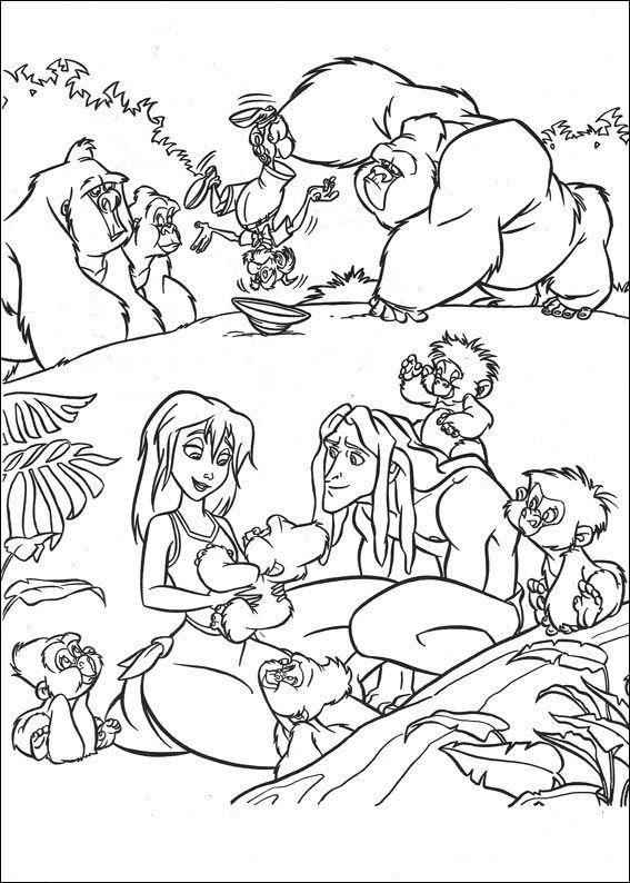 Tarzan Malarbilder For Barn Teckningar Online Till Skriv Ut Nº