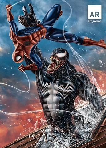 Spider-Man vs Venom | Spiderman art, Spiderman, Marvel ...