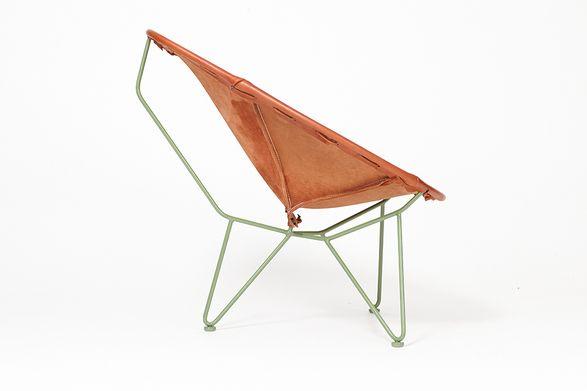 Garza Oval Lounge Chair-Saddle Leather