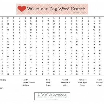 valentine word search printable {valentine's day games} | cute, Ideas