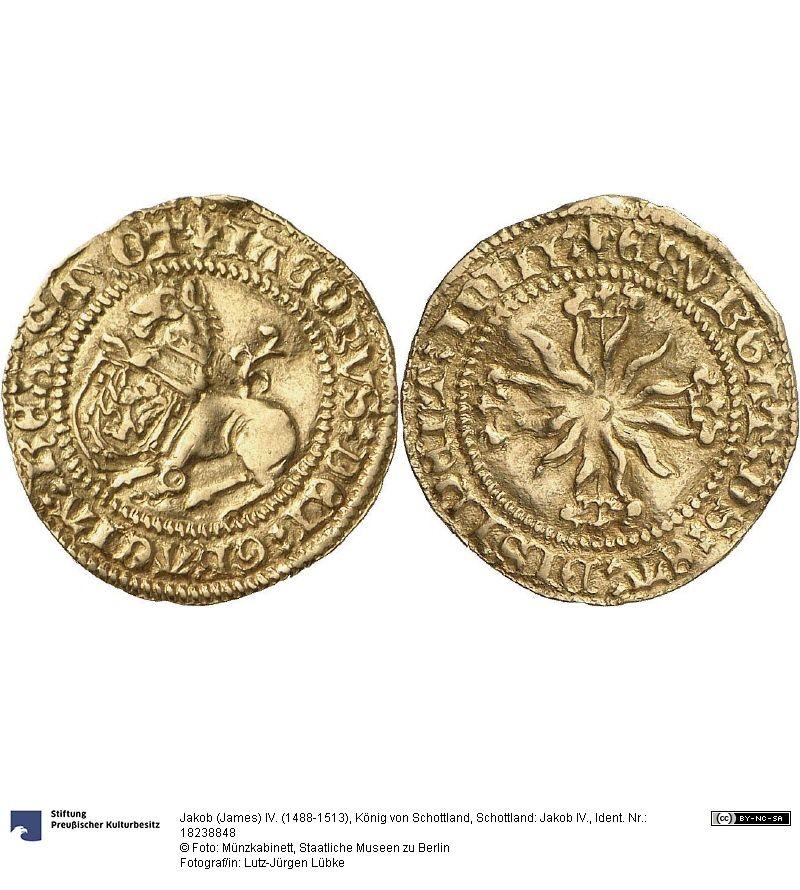 Schottland Jakob Iv Münze Jakob James Iv 1488 1513 König Von
