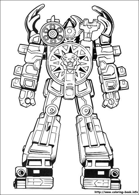 pin by marc farin bruguera on megazord de los powerrangers dino ... - Power Rangers Dino Coloring Pages