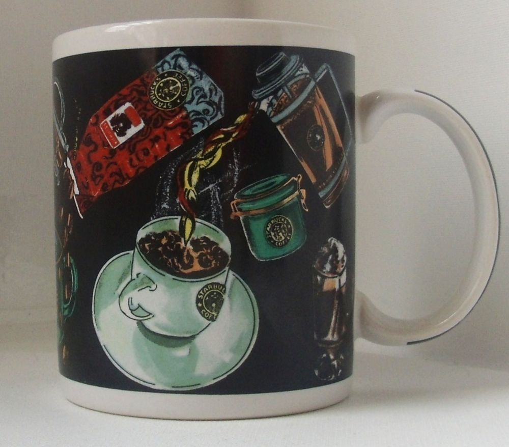 Starbucks Mug Featuring All Types of Coffee, Coffee Makers, Cups & Espresso | Starbucks mugs ...