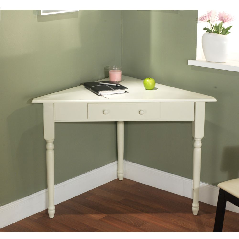 White corner desk with turned legs overstock shopping the