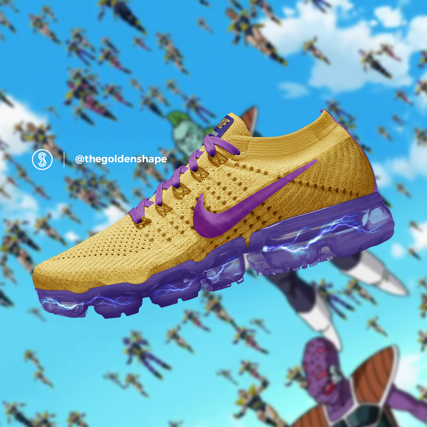 517686aa4e56e Dragon Ball Super x Nike Air VaporMax Golden Freezer