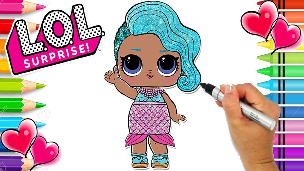 Splash Queen Lol Surprise Coloring Page Glitter Series Lol Doll Colo Lol Dolls Unicorn Coloring Pages Coloring Pages