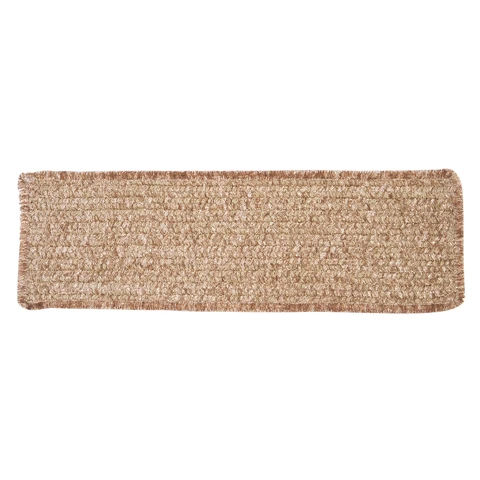 Best Simple Chenille Braided Rectangle Stair Tread M801 Sand 400 x 300