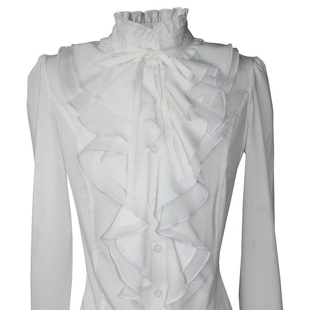 82e0d00ea8566a  Spring  AdoreWe  SammyDress -  Rosewholesale Women Office Blouses  Victorian Top Button Silky