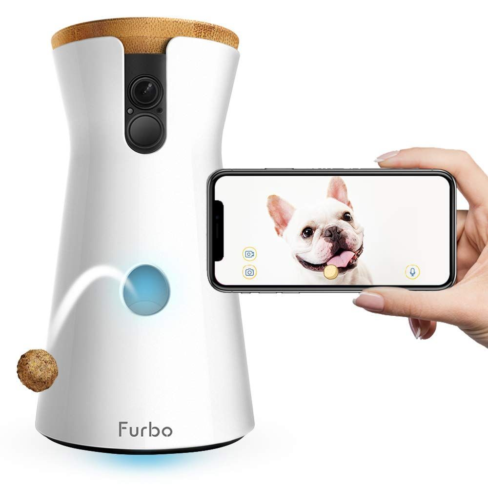 Furbo Dog Camera Treat Tossing Full Hd Wifi Pet Camera And 2 Way Audio Designed For Dogs Compatible With Alexa Audio Ipa In 2020 Pet Camera Pet Cam Pet Accessories