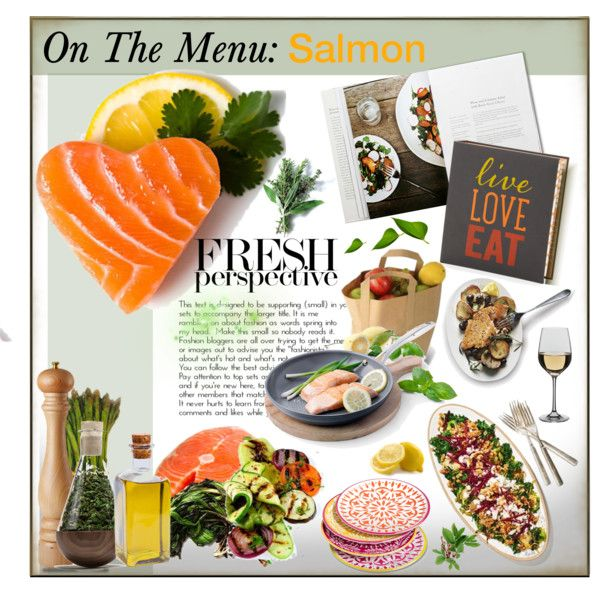 On The Menu-Salmon by idetached on Polyvore featuring interior, interiors…