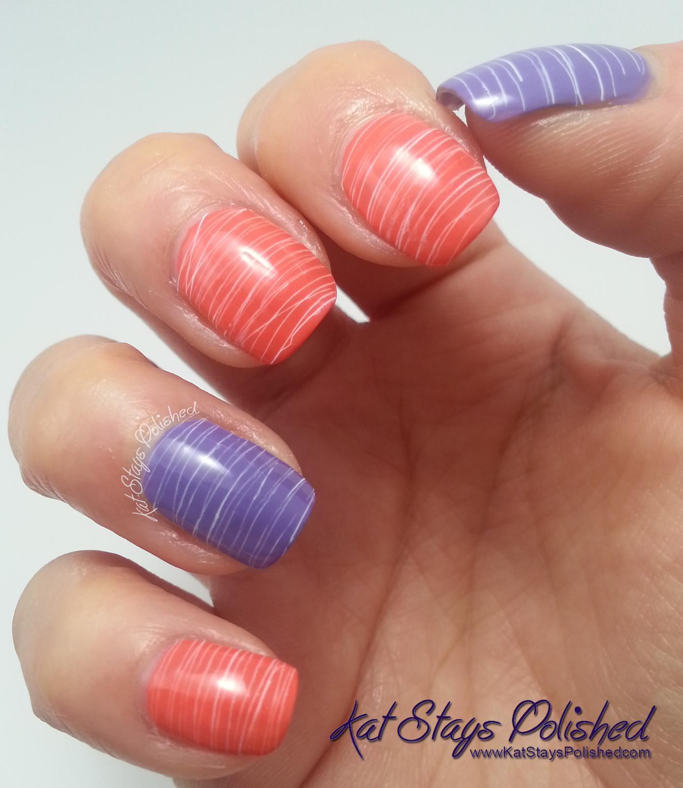 Spun Sugar Nail Art Milani Colorful Coral Vivid Violet White