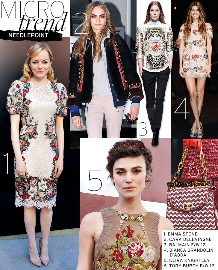 Microtrend: Needlepoint - Celebrity Style and Fashion from WhoWhatWear