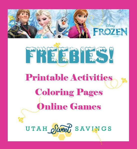 Frozen Free Online Printables FREE Printable Coloring Activity Pages Plus Computer Games