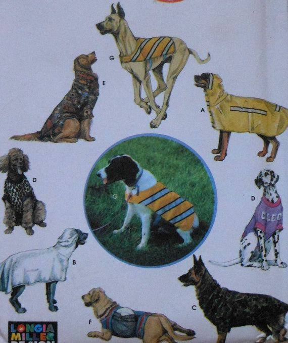 Large Dog Clothes Sewing Pattern UNCUT Simplicity 9520 coat backpack ...