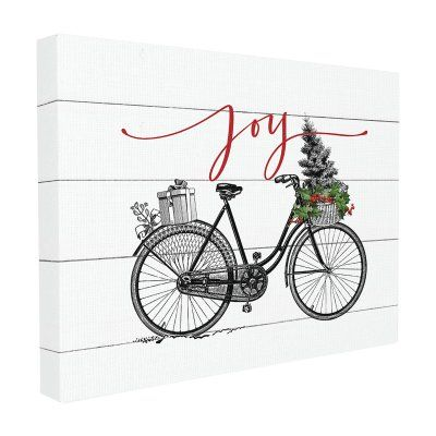The Stupell Home Decor Collection Holiday Joy Bicycle with