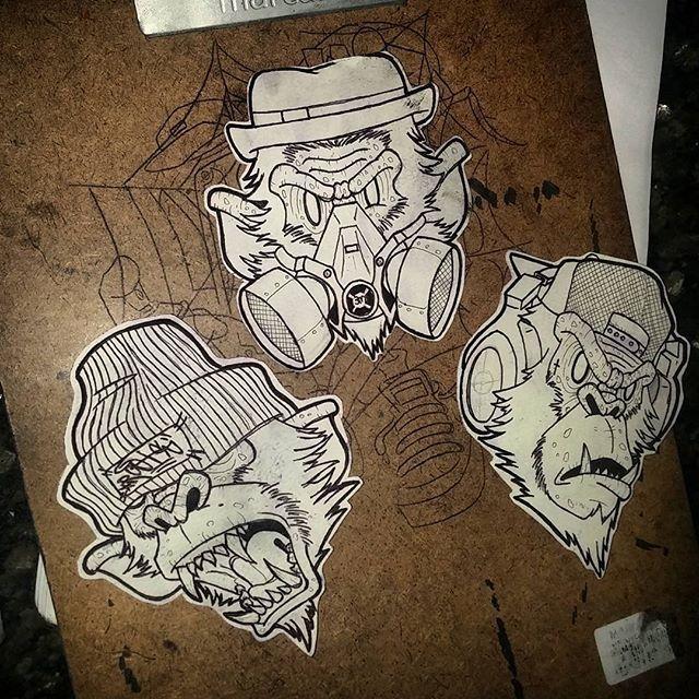 Instagram media iskonno ru regram foksduzit 3 primatas stickers 3monkeys 4tattoo