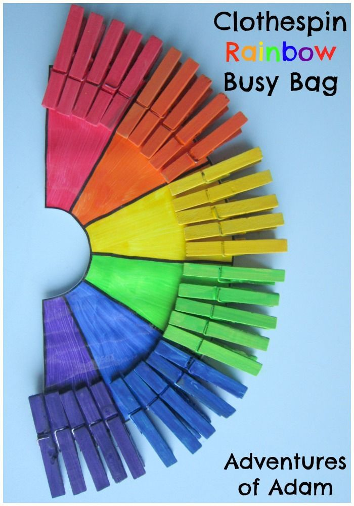 clothespin rainbow busy bag fine motor bags and awesome. Black Bedroom Furniture Sets. Home Design Ideas