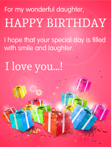 For My Wonderful Daughter Happy Birthday Cards Cards Pinterest