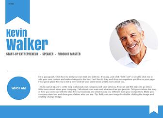 Online Business Card Website Template WIX Binkie Pinterest - Business card website template