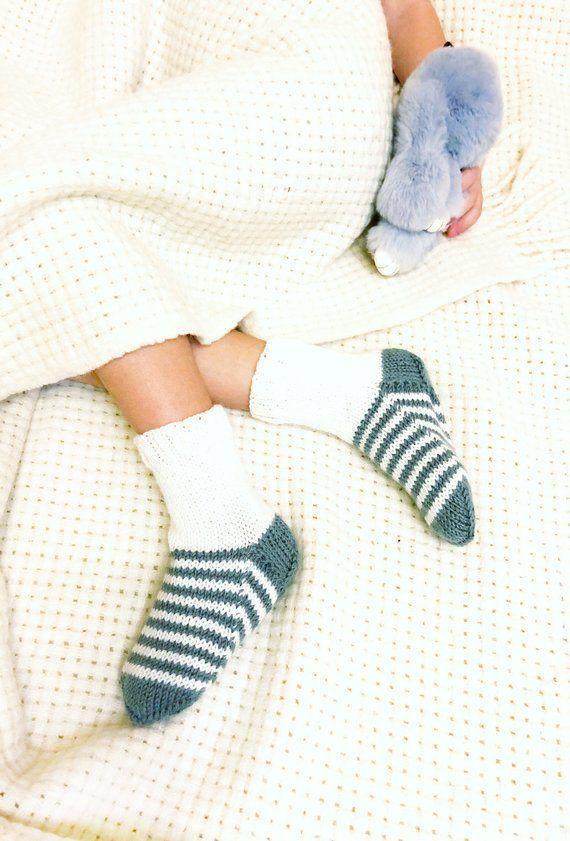 386fc156b1ce7 Knit toddler socks Striped socks knit Bed socks Slipper socks Kids ...