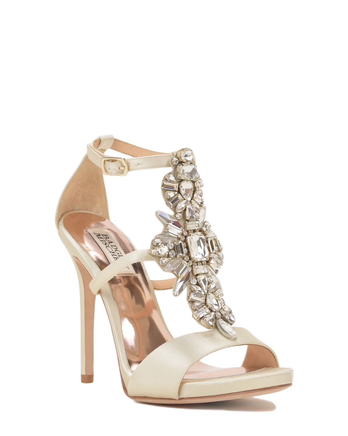badgley mischka basile embellished evening shoe now available at