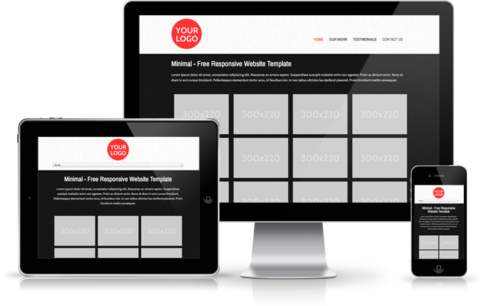 Download Your Free Responsive Website Template Minimal Website Template Responsive Website Template Web Design Tools