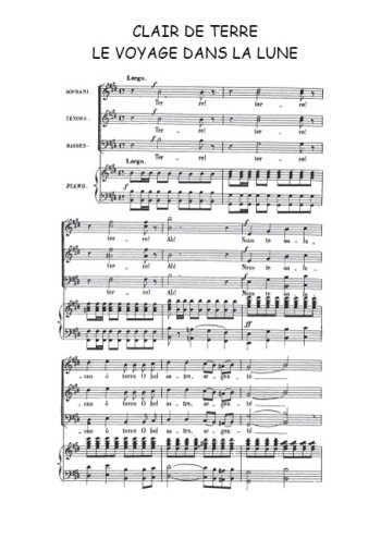Telechargez La Partition Gratuite De La Chanson Clair De Terre Choeur Final Tire De L Operette Partitions De Chansons Partitions Gratuites Jacques Offenbach
