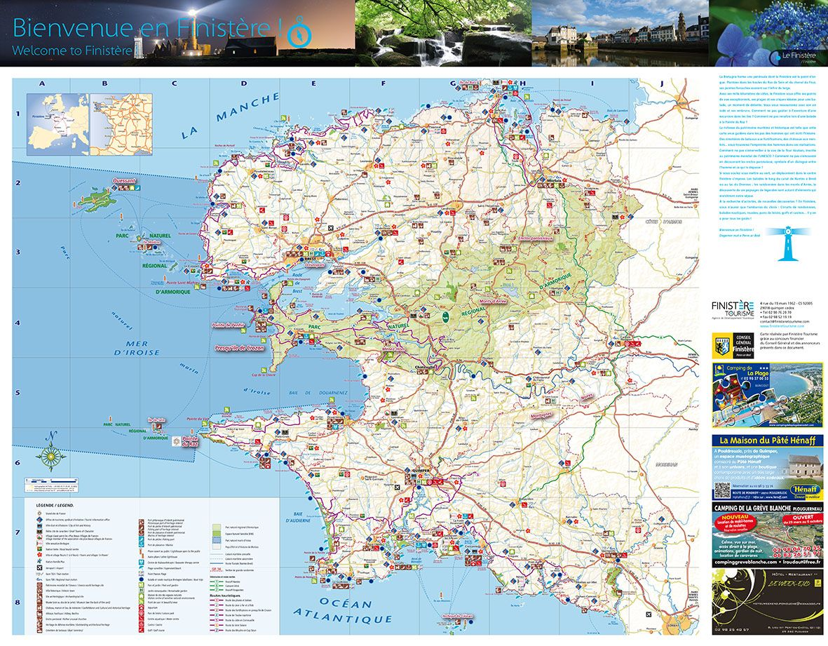 Carte Touristique Fnistere Creation L Agence R Communication