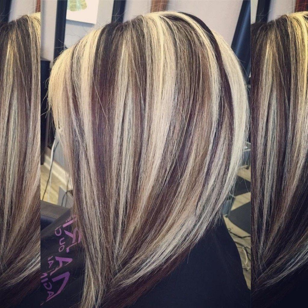 Blonde Hair With Dark Brown Lowlights Hair In The Dark Brown Hair Category Hair Styles Hair Highlights Hair