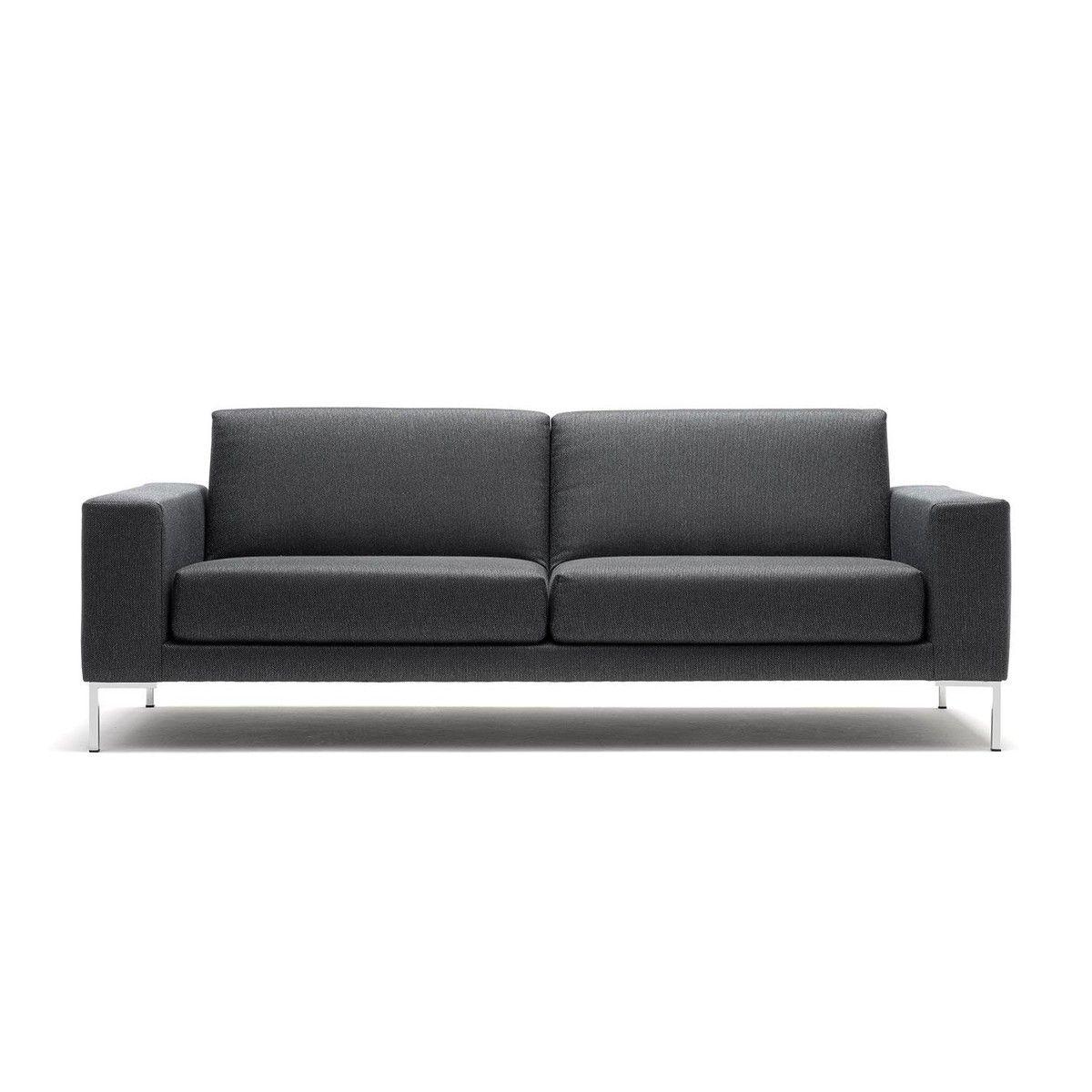 freistil Rolf Benz - freistil 183 3-Sitzer Sofa - graubeige/Stoff Hallingdal 65 173/7804/Gestell Winkelfuß glanzchrom/204x84cm