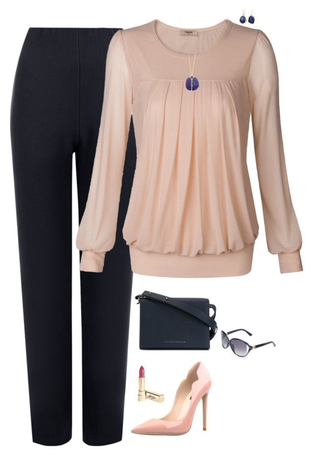 """Blush & blue"" by julietajj on Polyvore featuring WearAll, Victoria Beckham, Dolce&Gabbana, Gucci and Kenneth Jay Lane"