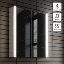 600x650mm Luminaire Illuminated Led Mirror Cabinet Bluetooth
