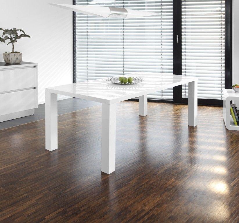 Esstisch Luke Weiss Hochglanz 200 X 100 Cm Esstisch Weiss Hochglanz Wohnung Einrichten Esstisch Weiss