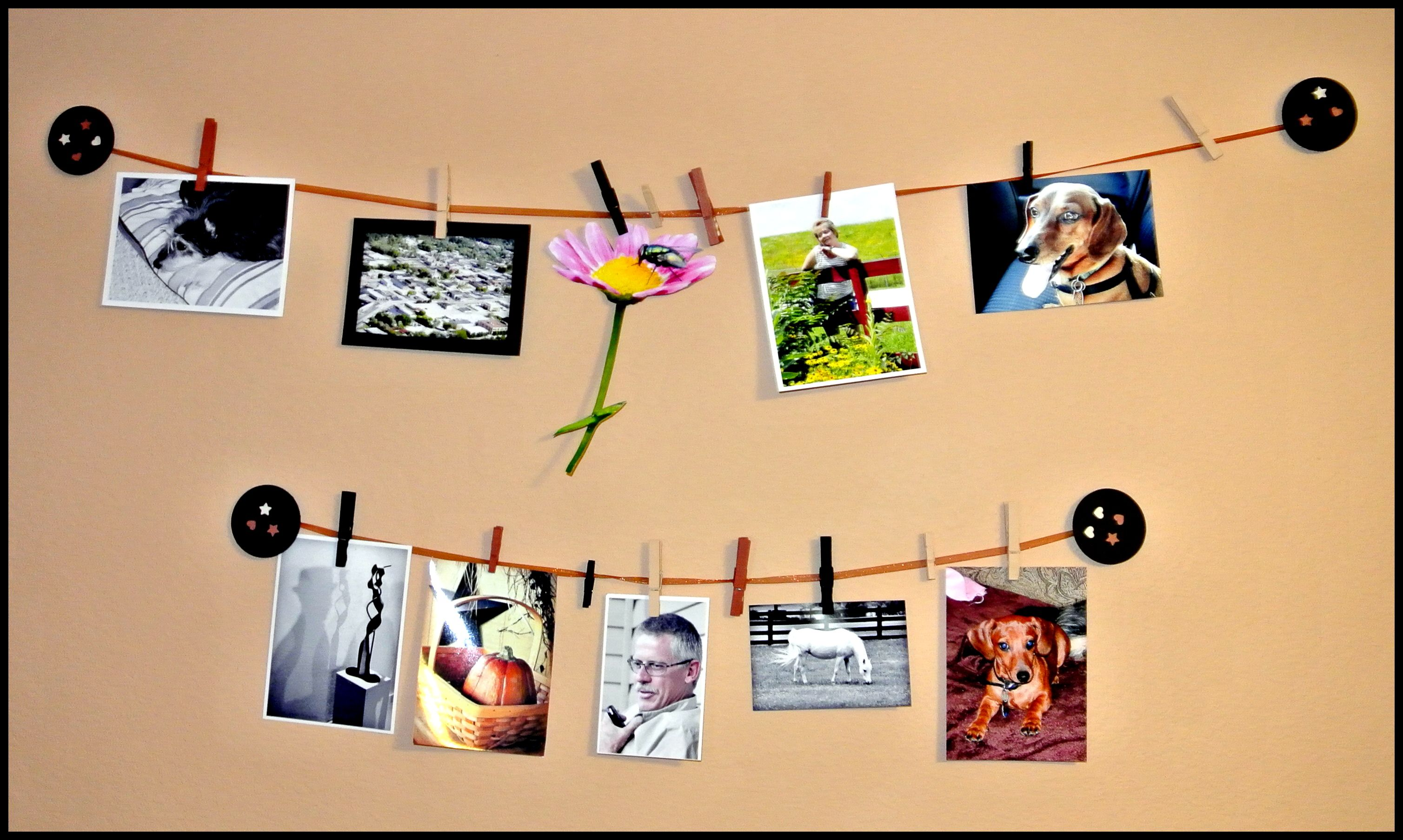 A very simple design to create for hanging 4 x 6 and 5 x 7 photos ...
