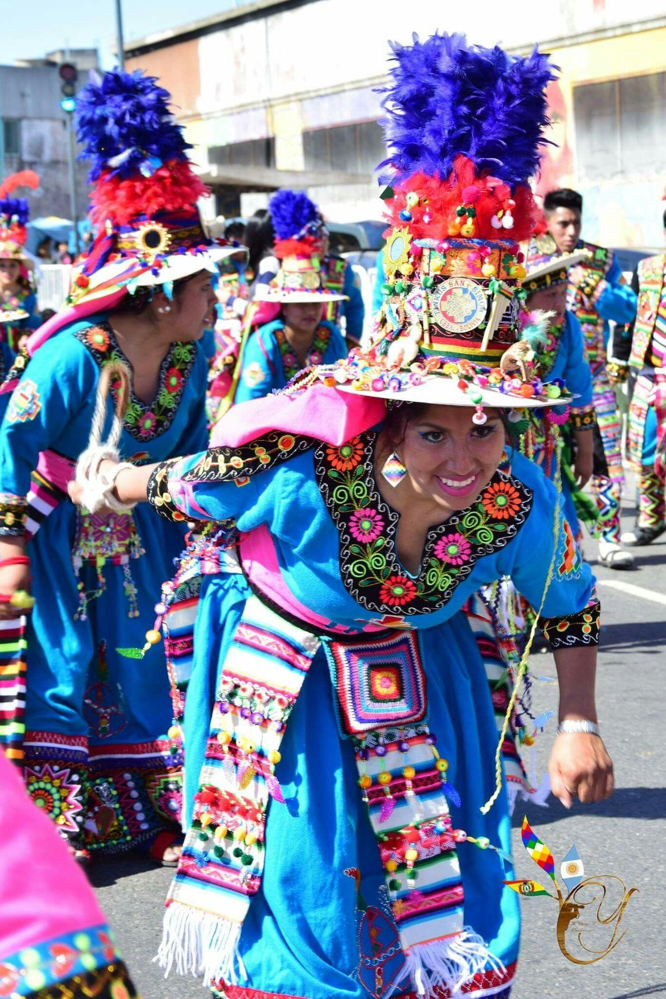 Vestido tinkus danza de Potosí Bolivia  db85eb8bcc6