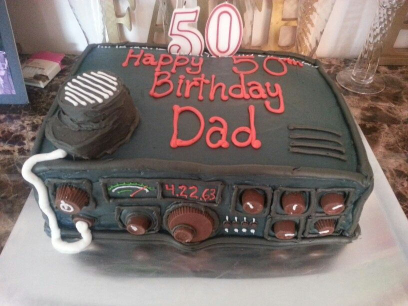 Sweet Ham Radio Cake We Made For Dad Projects To Try Pinterest