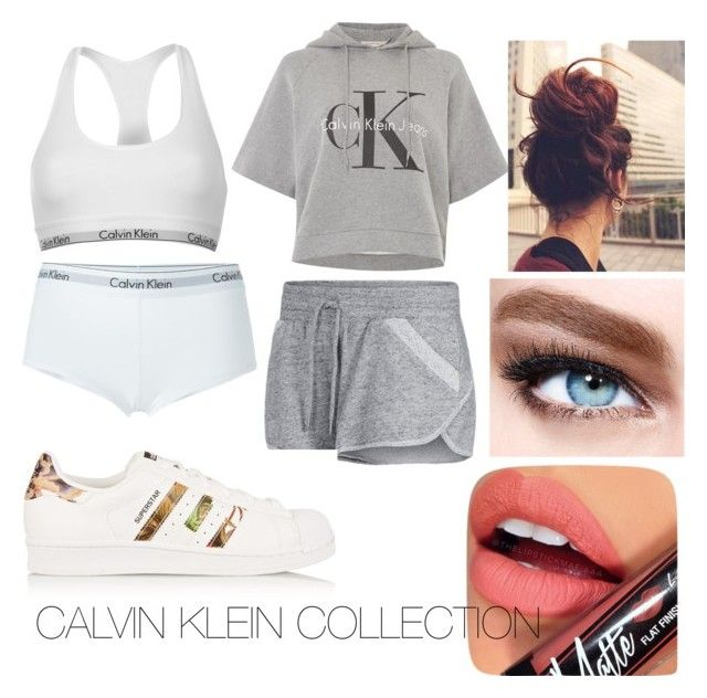 """Calvin Klein"" by chloe-ashforth on Polyvore featuring Calvin Klein, Calvin Klein Underwear, Lorna Jane, adidas Originals, Maybelline and Fiebiger"