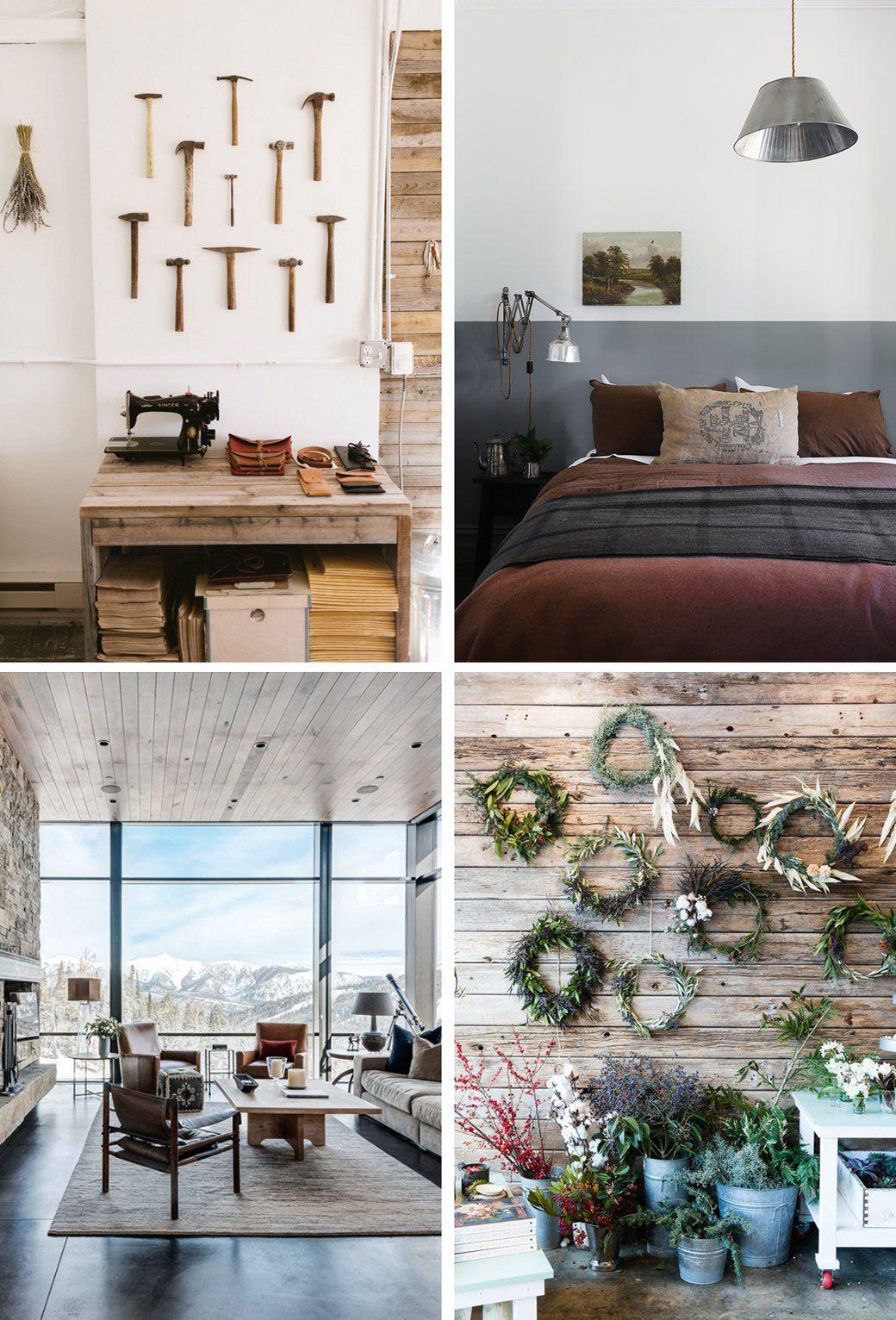 Modern clean rustic lodge style decor8