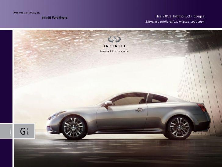 2011 Infiniti G37 Coupe Brochure Fort Myers Naples Florida