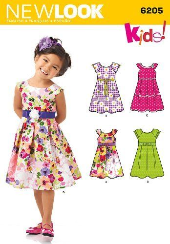 New Look Sewing Pattern 6205 - Child\'s Dress Sizes: A (3-4-5-6-7-8 ...