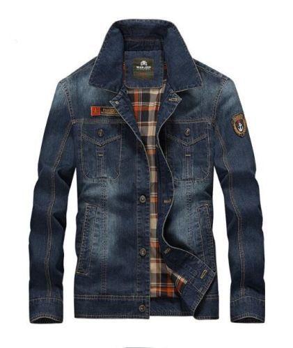 c33154a52a10 New-Men-039-s-Retro-Denim-Cotton-Jean-Jacket-Coat-Casual-Outwear-Blue-coats