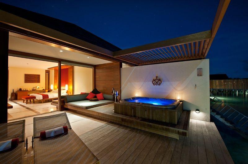 Paradise Island Resort Spa Water Villa At Night Best