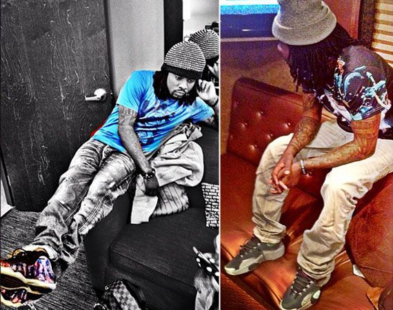 Celebrity Feet  Wale -  Galaxy  Foamposite + Air Flight One  All ... fa601f6a3