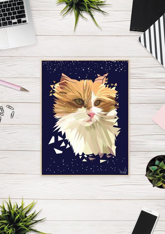 Custom Pet Portrait – Custom Cat Portrait – Custom Pet Drawing – Custom Dog Portrait – Digital Portrait Illustration – Pet Lover Gift Cat