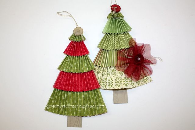 De Stampin' Corner: Christmas Tree Ornament Tutorial
