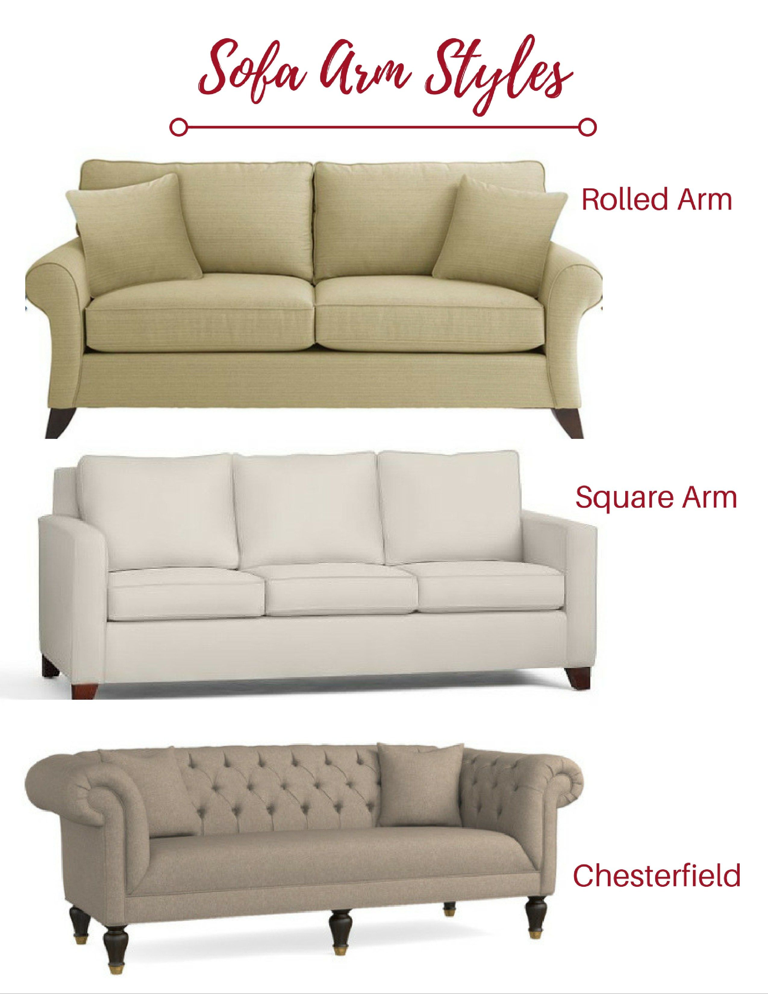 Sofa Arm Styles Best Collections Of Sofas And Couches