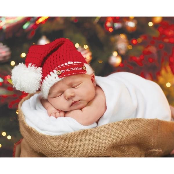 Baby s 1st Christmas Santa Hat in red and white. This hand-crocheted Santa… f5a75dbb50b