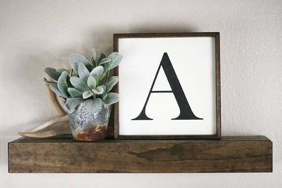 This hand-painted capital letter sign is a custom-made, personalized ...