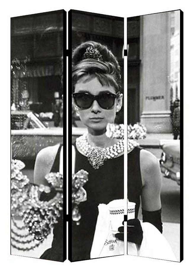 Audrey Hepburn Window Folding Screen Room Divider Gracies room