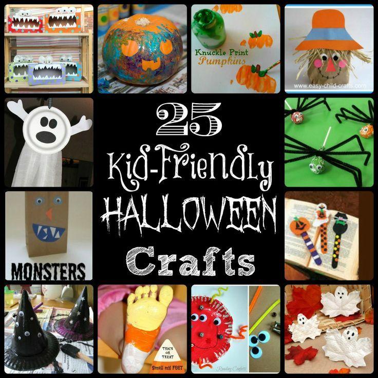25 DIY kids halloween crafts #halloween #crafts #diy room moms - easy homemade halloween decorations for kids